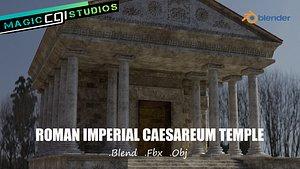 3D Roman Imperial Caesareum Temple Of Worship model