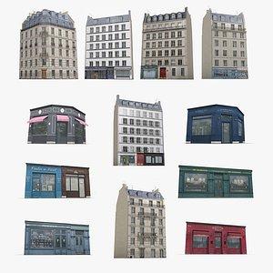 3D Photorealistic European Buildings  And Facades City Set