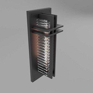 3D model Wall Lamp Black