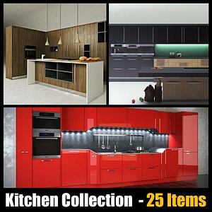 kitchen Collectin - 25 Items 3D model