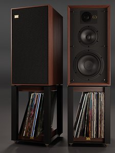 3D Wharfedale LINTON Heritage Loudspeakers and Stands with Vinyls model