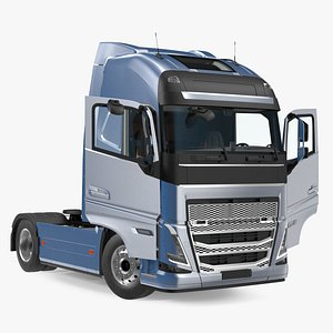Cabover 4x2 Lorry Rigged 3D model