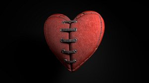3D heart leather valentine model