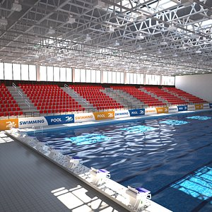 3D model Indoor Swimming Pool Stadium