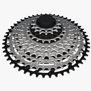 3D bicycle cassette cycle model