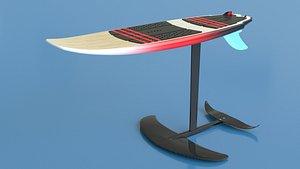 Hydrofoil surf board 3D model