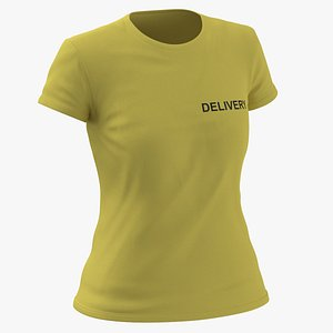 Female Crew Neck Worn Yellow Delivery 03