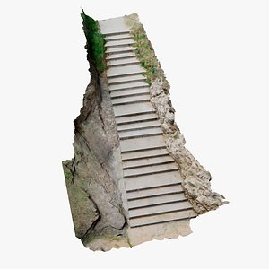 3D stone stairs scan model