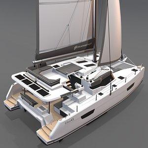 3D 3D Catamaran Fountaine Pajot Elba 45