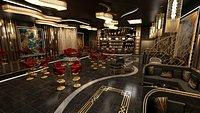 Luxury nightclub bar interior design