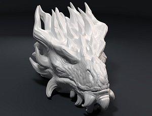 dragon head sculpture 3D model
