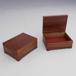 3D model small wooden jeweler