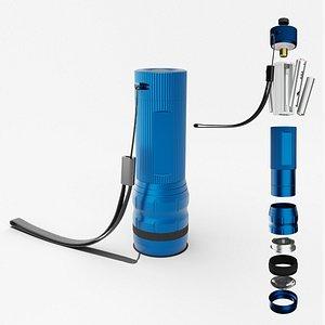 Flashlight Blue 3D model