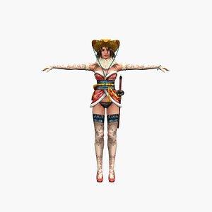 3D Girl musketeer V3