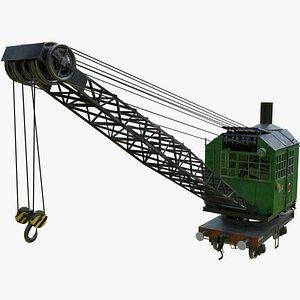 Steam rail crane PK-6 model