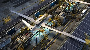 uav production line 3D model