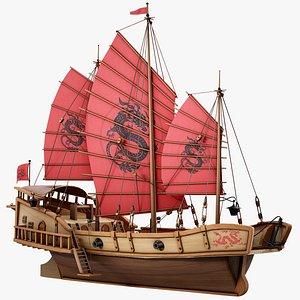 junk pirate vessel 3D