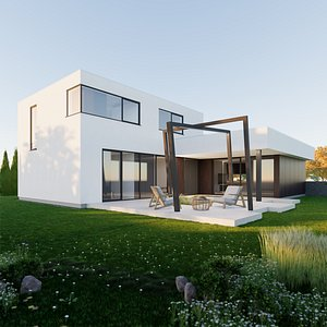 House 9 - Created with fully parametric Revit Families 3D