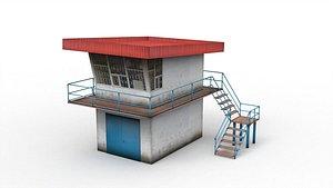 3D Police post model
