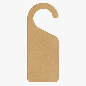 3D mockup cardboard handle