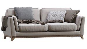 ceni volcanic gray sofa 3D