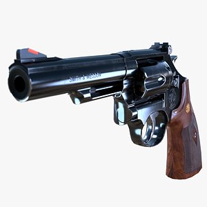 Smith and Wesson Model 19 Classic Low-poly 3D model