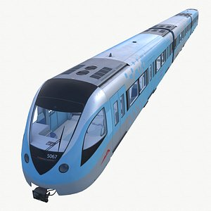 3D model train metro dubai