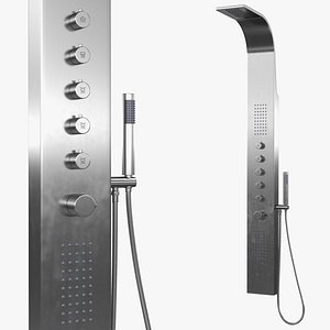 3D model Thermostatic Shower Column With Jets