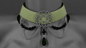 3D model Collar accessory w brooch