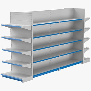 3D supermarket shelves display