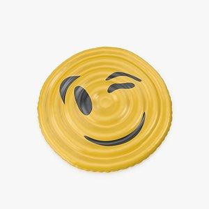 3D Wink Emoji Pool Float
