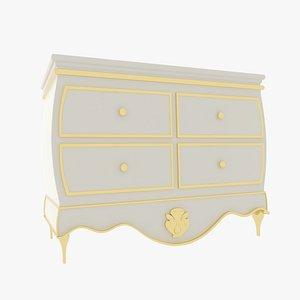 Small Dresser White model