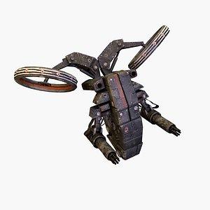 3D cyber drone model