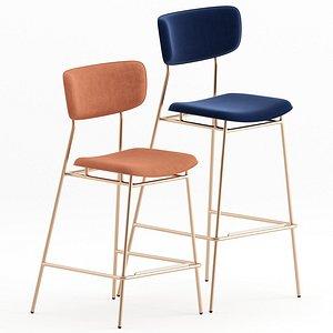 3D calligaris fifties stool model