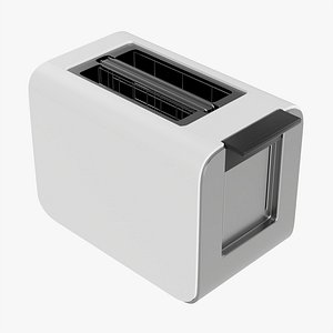 3D Electric modern toaster white