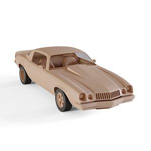 3D chevrolet camaro model