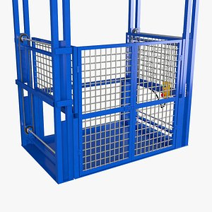 3D model industrial elevator