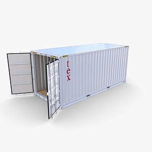 20ft Shipping Container Tex v2 3D