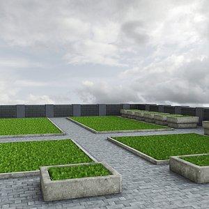 grass garden 3D model