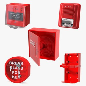 Fire Alarm Tools Collection 2 3D model