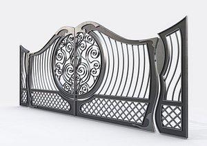 Ornate Decorative Gate 2 3D model