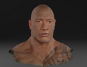 face rock dwayne model