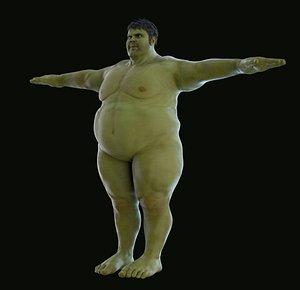 fat hulk 3D model