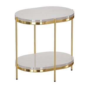 3D table oval nightstand lila model