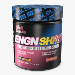 EVL ENGN Shred Pre Workout Thermogenic Fat Burner 3D