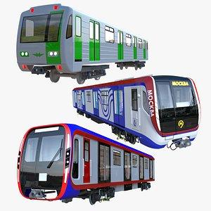 Russian metro trains 3D model