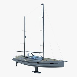 60 feet sail yacht 3D model