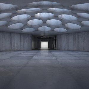 interior futuristic 3D model