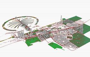 3D town structure cityscape