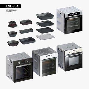 set oven kitchen 3D model